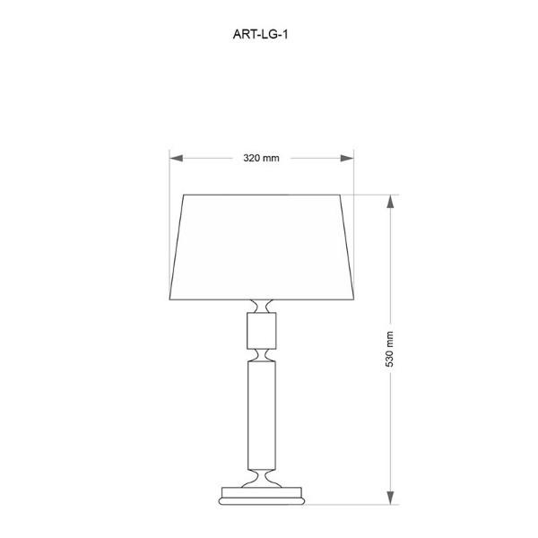 Настольная лампа Kutek Mood Artu ART-LG-1(N)